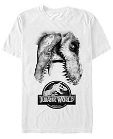 Jurassic World Men's Neon Tropical Dinosaurs Short Sleeve T-Shirt