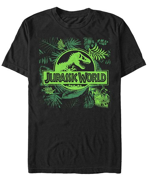Jurassic World Men's Fern Leaf Logo Short Sleeve T-Shirt