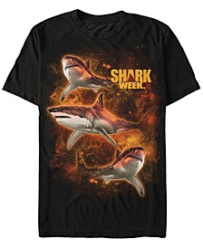 Discovery Channel Men's Sharks In Space Short Sleeve T-Shirt