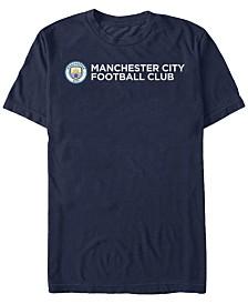 Manchester Football Men's Club Horizontal Text Logo Short Sleeve T-Shirt