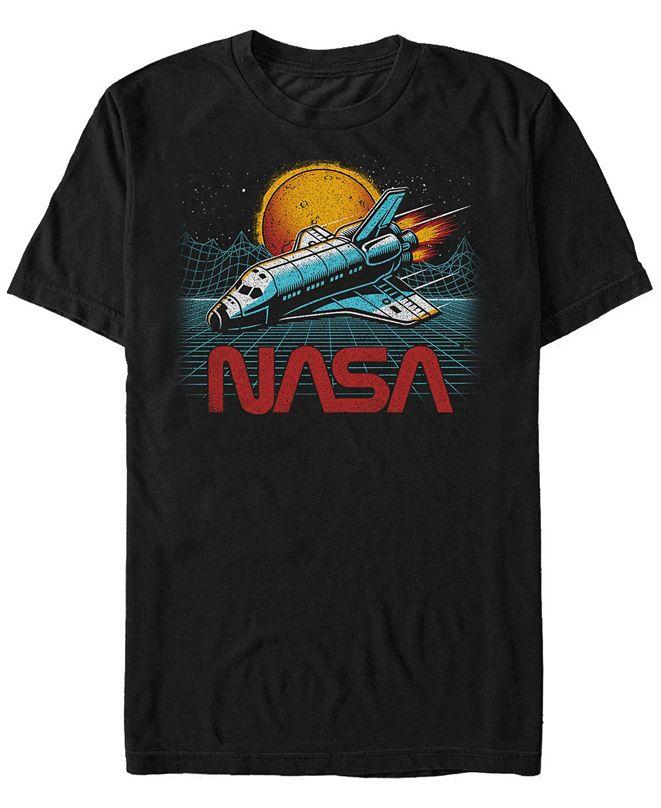 NASA Men's Epic Space Shuttle In Space Short Sleeve T-Shirt