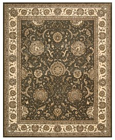"Wool and Silk 2000 2206 Slate 5'6"" x 8'6"" Area Rug"