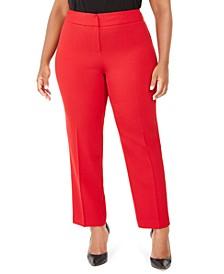 Plus Size Straight-Leg Dress Pants