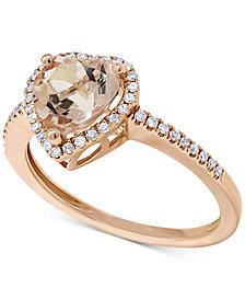 Morganite (1-1/2 ct. t.w.) & Diamond (1/8 ct. t.w.) in 14k Rose Gold