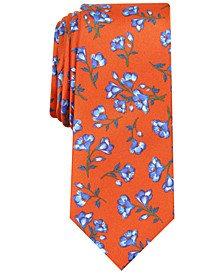 Men's Wakely Skinny Floral Silk Tie, Created For Macy's