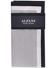 Alfani Men's Mini-Dot Silk Pocket Square, Created For Macy's