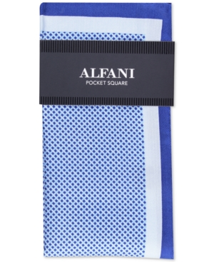 Alfani Men's Mini-Dot Silk Pocket Square, Created for Macy's