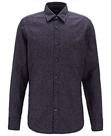 BOSS Men's Relegant 2 Regular Fit Retro-Print Shirt