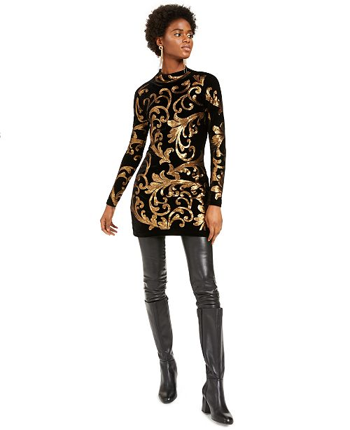 INC International Concepts I.N.C. Embellished Sweater Dress & Faux-Leather Skinny Pants, Created For Macy's