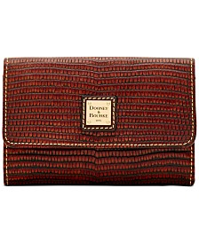 Dooney & Bourke Lizard Leather Flap Wallet