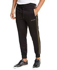 Men's Gold Stripe Track Pants