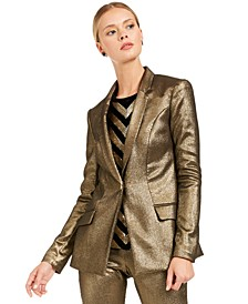 INC Metallic Blazer, Created For Macy's