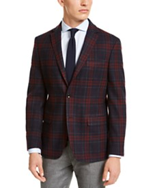 Tommy Hilfiger Men's Modern-Fit THFlex Stretch Plaid Sport Coat