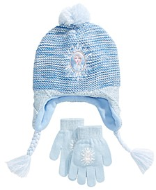 Big Girls 2-Pc. Elsa Heidi Hat & Gloves Set