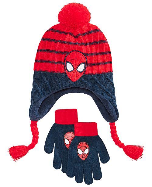 Spider-Man Big Boys 2-Pc. Heidi Hat & Gloves Set