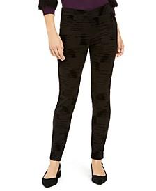 Velvet-Flocked High-Waist Skinny Pants, Created For Macy's