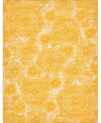 Basha Bas7 Yellow 4' x 6' Area Rug