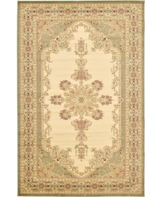 Belvoir Blv1 Ivory/Green 6' x 9' Area Rug