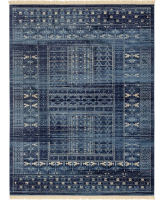 Borough Bor4 Blue 6' x 9' Area Rug