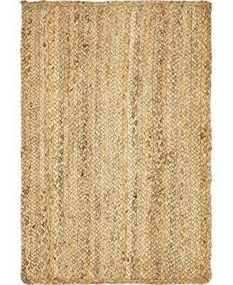 Braided Jute C Bjc5 Natural 7' x 10' Area Rug