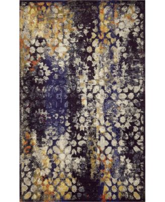 Brio Bri1 Navy Blue 9' x 12' Area Rug