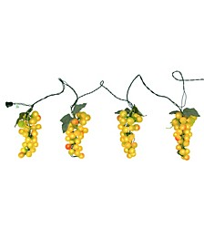 Set of 4 Clusters 100 Lights Tuscan Winery Grape Patio and Garden Novelty Christmas Light 20 Spacing