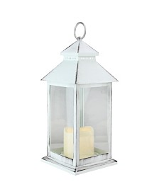 Northlight Brushed Candle Lantern with Flameless LED Candle