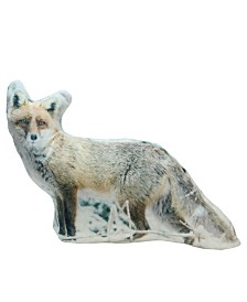 Northlight Fox in Snow Covered Woods Throw Pillow - Polyester
