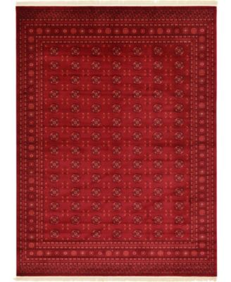Vivaan Viv1 Red 6' x 9' Area Rug