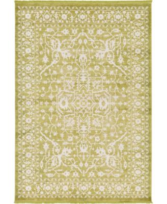 Norston Nor1 Light Green 6' x 6' Round Area Rug