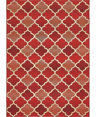Pashio Pas1 Red 6' x 6' Square Area Rug