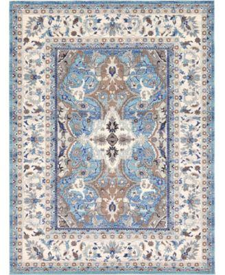 Wisdom Wis2 Light Blue 8' x 10' Area Rug