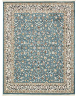 Zara Zar1 Blue 3' x 13' Runner Area Rug