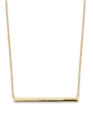 Giani Bernini 18k Gold Over Sterling Silver 16 Bar Necklace Created For Macy S Necklaces Jewelry Watches