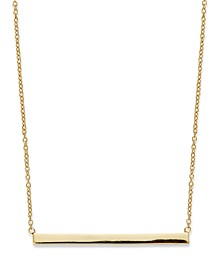 "18k Gold over Sterling Silver 16"" Bar Necklace, Created for Macy's"