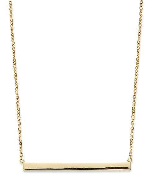 "Giani Bernini 18k Gold over Sterling Silver 16"" Bar Necklace, Created for Macy's"