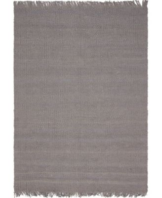 Stout Jute Stj1 Gray 5' x 8' Area Rug