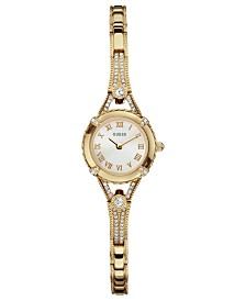 GUESS Watch, Women's Gold Tone Bracelet 22mm U0135L2