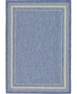 Pashio Pas5 Blue 6' x 9' Area Rug