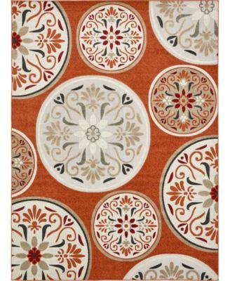Pashio Pas4 Terracotta 6' x 9' Area Rug