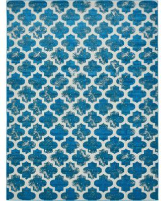Pashio Pas2 Turquoise 6' x 9' Area Rug