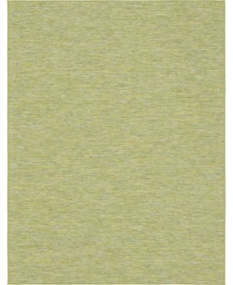 Pashio Pas8 Green 2' x 6' Runner Area Rug