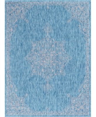 Pashio Pas8 Light Aqua 9' x 12' Area Rug