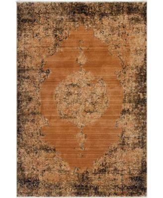 Thule Thu2 Light Brown 4' x 6' Area Rug