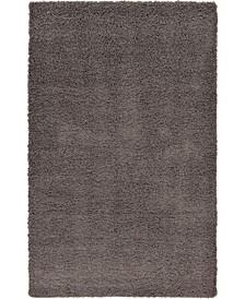 Exact Shag Exs1 Graphite Gray Area Rug Collection