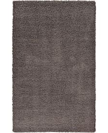 Bridgeport Home Exact Shag Exs1 Graphite Gray Area Rug Collection