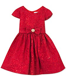 Baby Girls Metallic Brocade Bow Dress