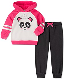 Little Girls 2-Pc. Panda Hoodie & Jogger Pants Set