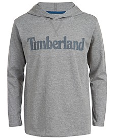 Big Boys Barnstead Gray Heather Hooded Logo T-Shirt
