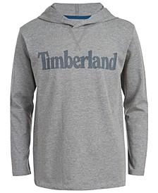 Big Boys Barnstead Gray Heather Hooded Logo T-Shirt